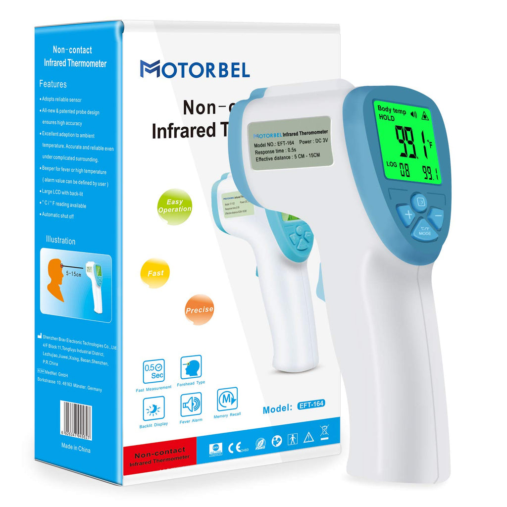 MOTORBEL Non Contact Forehead Thermometer Professional