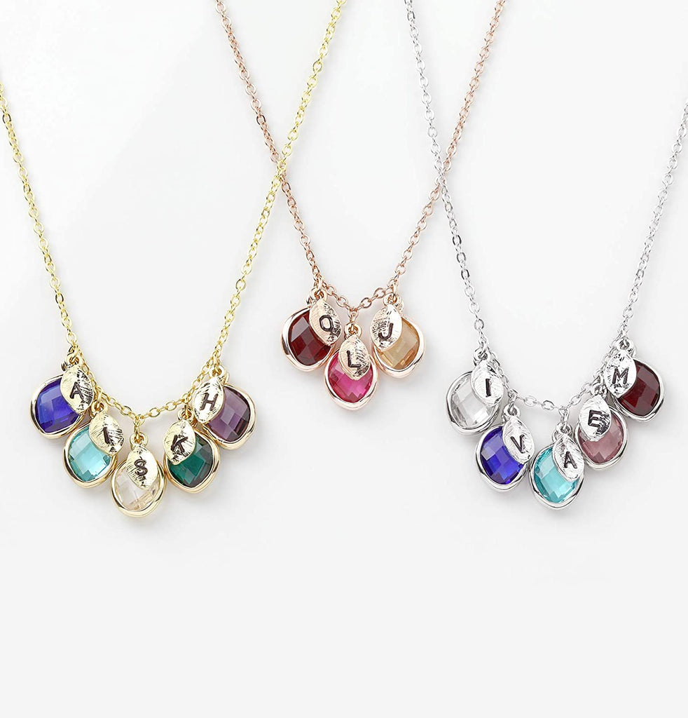 Mothers Personalized Birthstone Necklace Jewelry