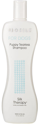 BioSilk Dogs Therapy Tearless Shampoo