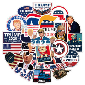 America President Stickers Skateboard Luggage