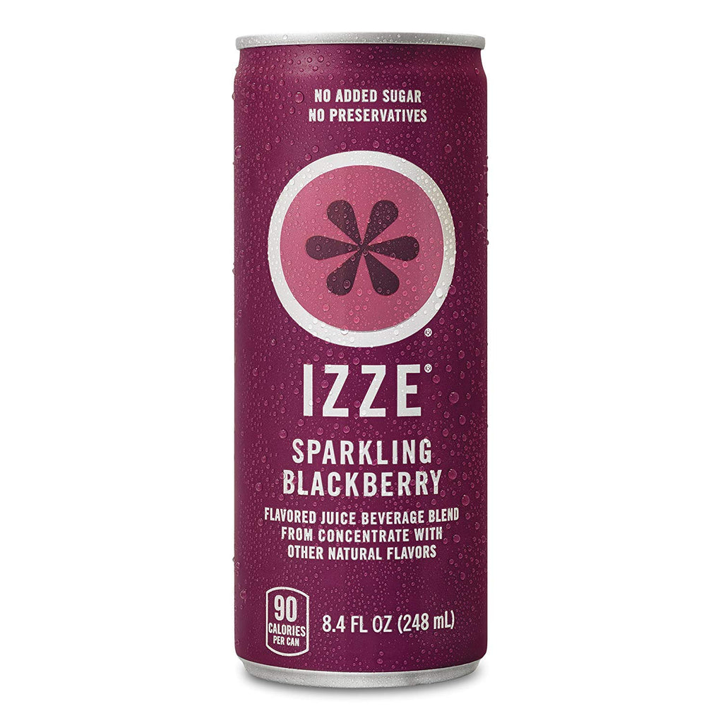 IZZE Sparkling Juice Blackberry Count