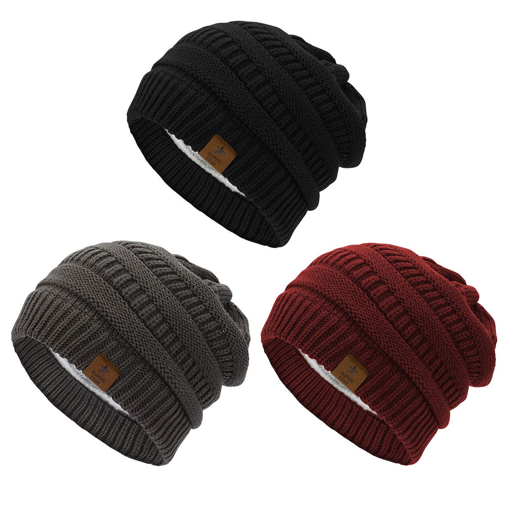 Durio Winter Beanies Snoboarding Burgundy