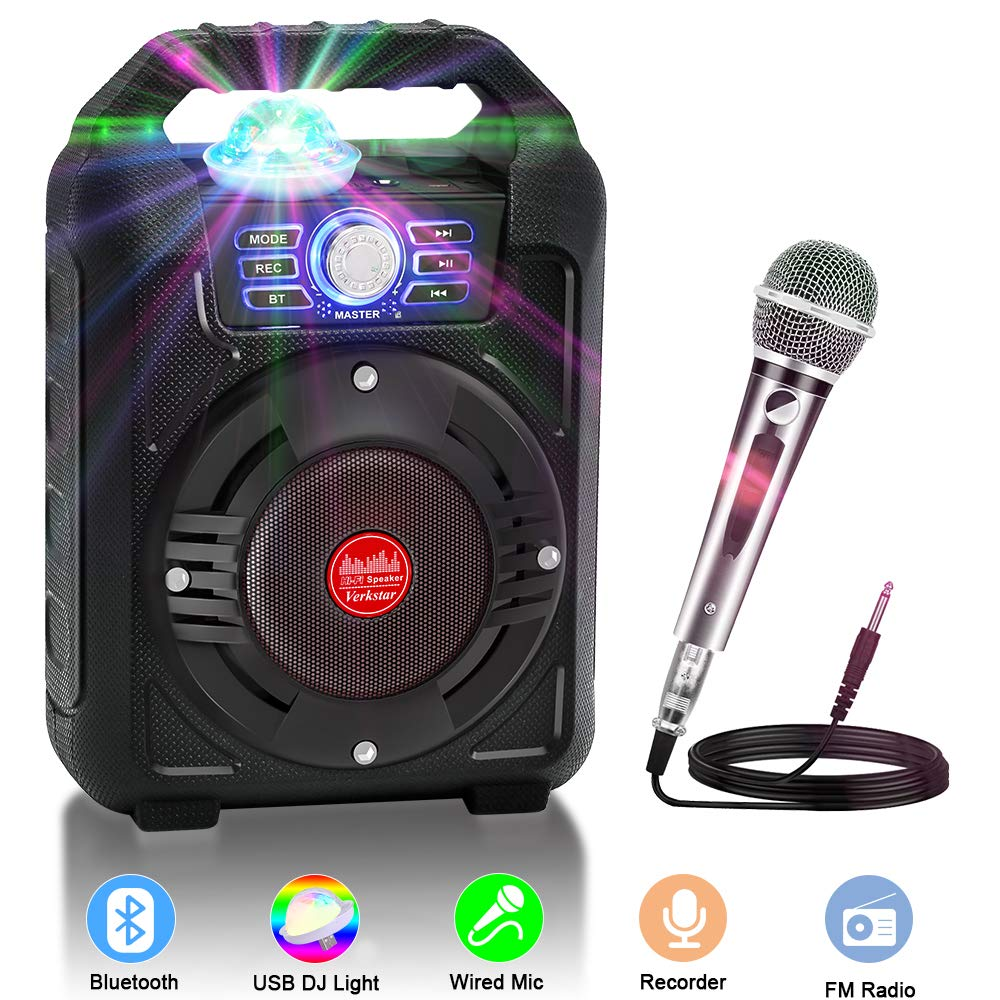 Portable Wireless Bluetooth Rechargeable Microphone