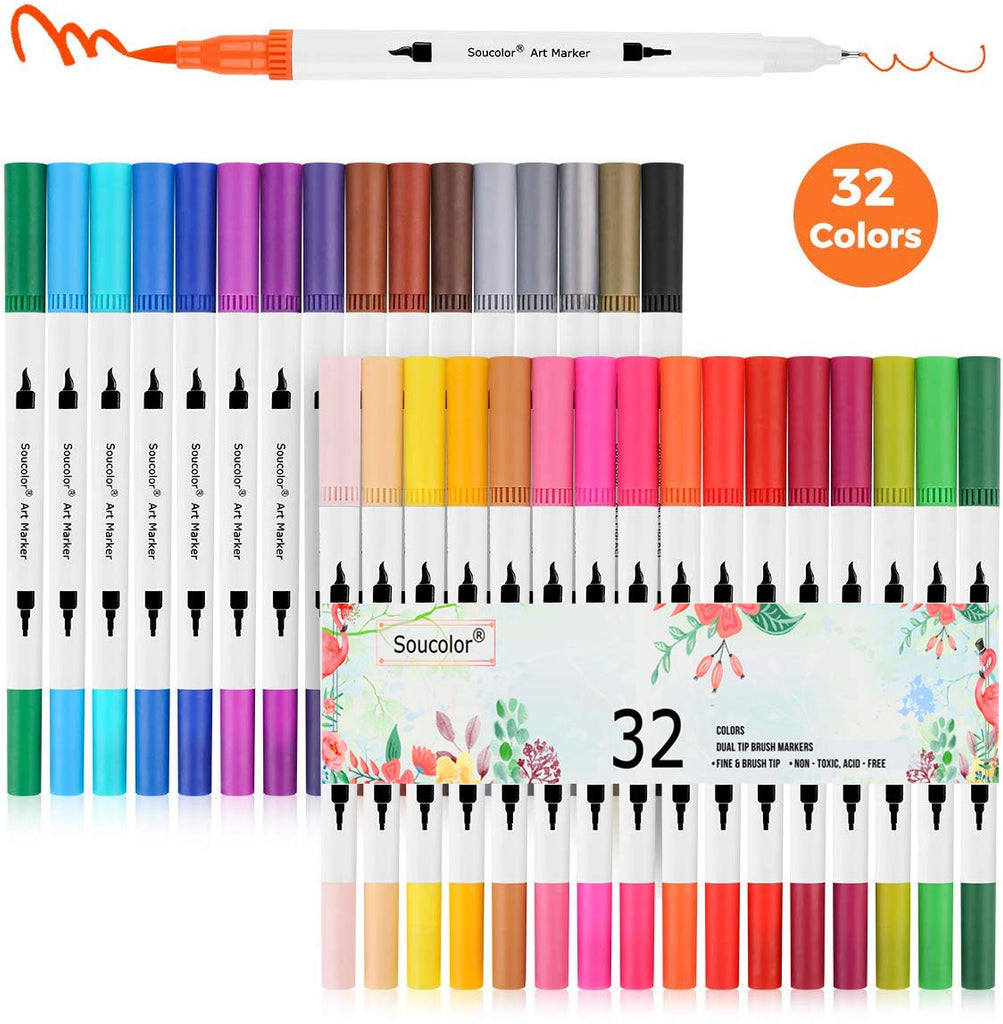 Soucolor Journaling Lettering Coloring Supplies