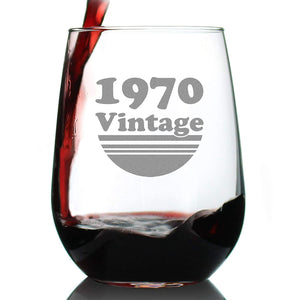 Vintage 1970 50th Birthday Stemless Turning