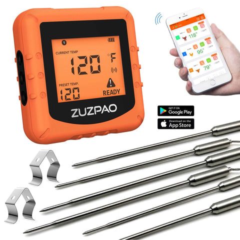 Wireless Thermometer Zuzpao Stainless Temperature