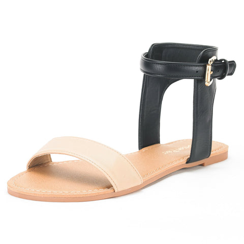 DREAM PAIRS Womens Buckle Sandals