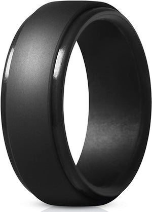 ThunderFit Silicone Rings Men Wedding