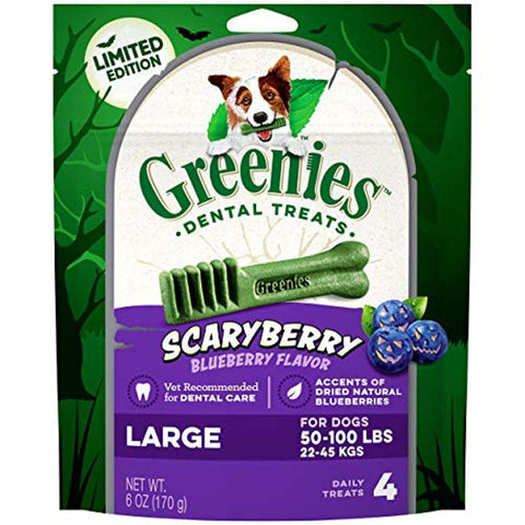 Greenies ScaryBerry Blueberry Halloween Natural