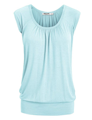 Womens Short Sleeve Dip Dye Sweetheart
