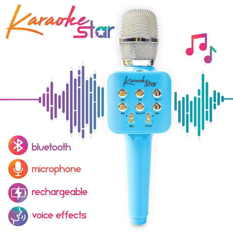 Move2Play Karaoke Star Blue Microphone
