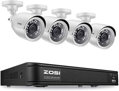 ZOSI 8 Channel Security Weatherproof Surveillance