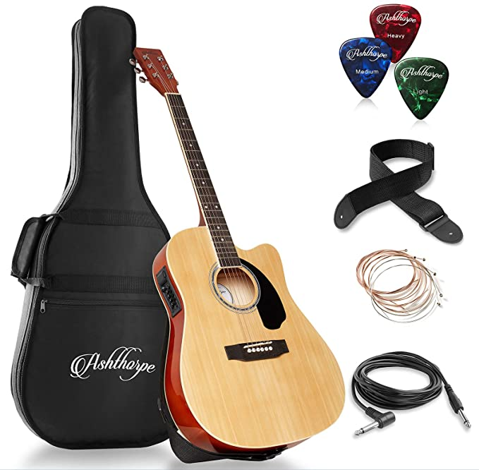 Ashthorpe Full Size Cutaway Thinline Acoustic Electric