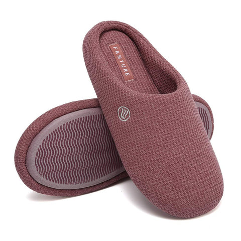 FANTURE Slippers Cotton Blend Anti Slip U419WMT029 Cranberry 03 36 37