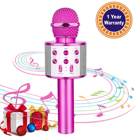 Microphone Wireless Bluetooth Handheld Christmas