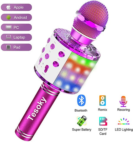 Wireless Bluetooth Microphone Tesoky Christmas