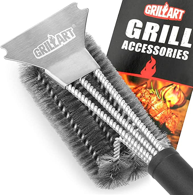 GRILLART Grill Brush Stainless Bristles