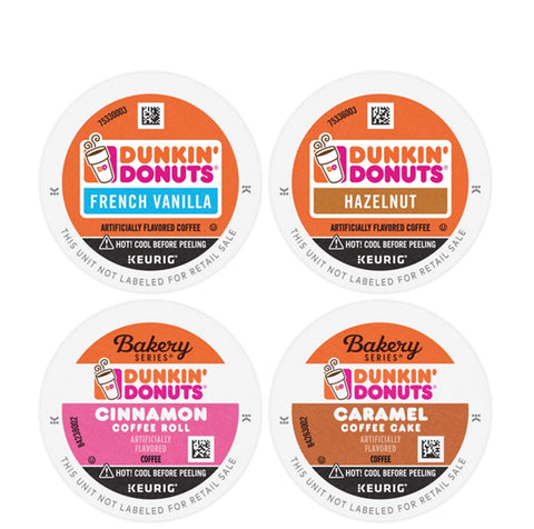 Dunkin Flavor Coffee Variety Packaging