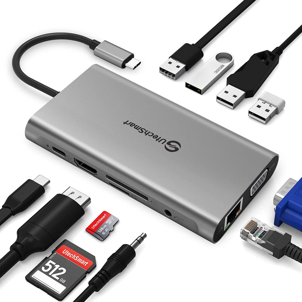UtechSmart Ethernet Charging Compatible ChromeBook