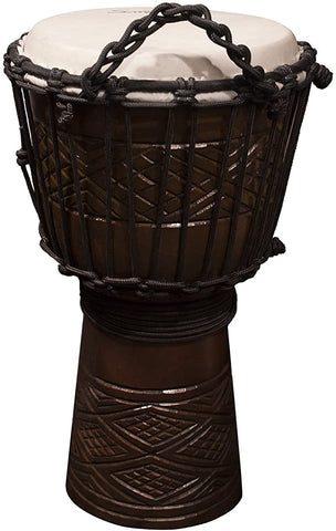 Sawtooth Tribe Carved Design Djembe