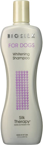 BioSilk Dogs Therapy Whitening Shampoo