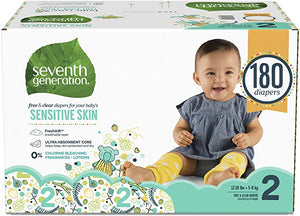 Seventh Generation Diapers Sensitive Packaging