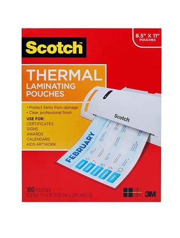 Scotch Thermal Laminating 100 Pack TP3854 100