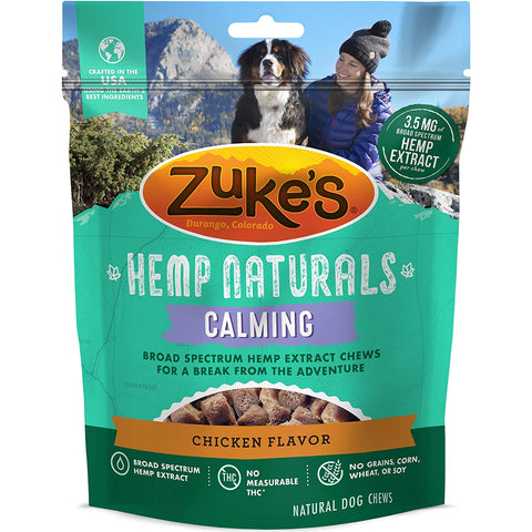 Zukes Hemp Naturals Calming Treats