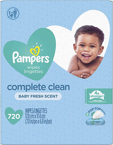 Pampers Wipes Complete Scented Pop Top