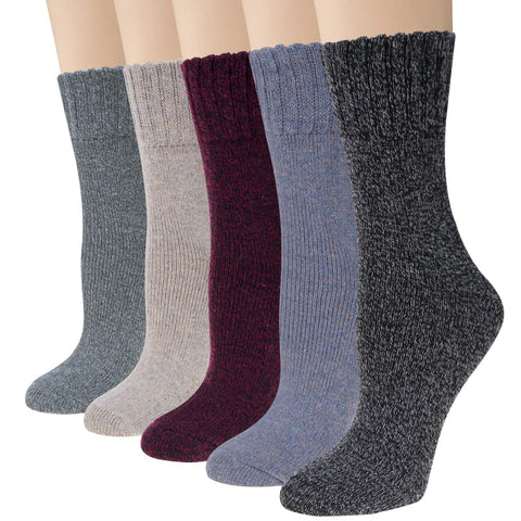 Pairs Womens Socks Vintage Winter