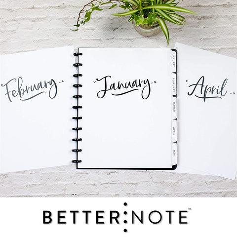 Calendar Dividers Discbound Planners Notebook