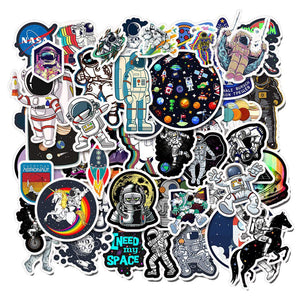 Stickers Explorer Skateboard Spaceman Spacecraft