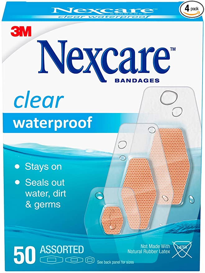 Nexcare Waterproof Assorted 50 Count Packages