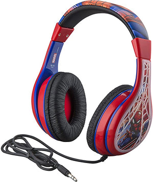 Headphones Spiderman Adjustable Tangle Free Children