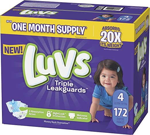 Luvs Leakguards Disposable Diapers SUPPLY