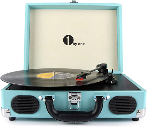 1byone Portable Turntable Headphone Turquoise