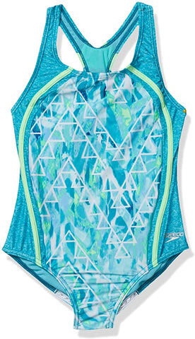 Speedo Girls Printed Sport Splice