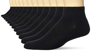 Hanes Black Active Ankle Socks