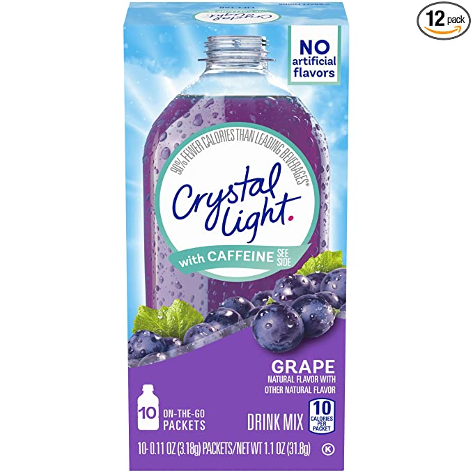 Crystal Light Drink Caffeine Packets