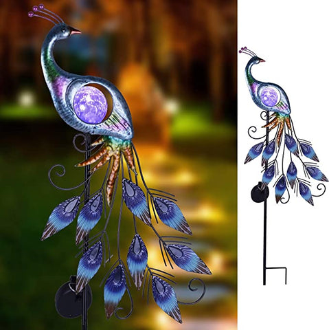 Teresas Collections Peacock Outdoor Decorations