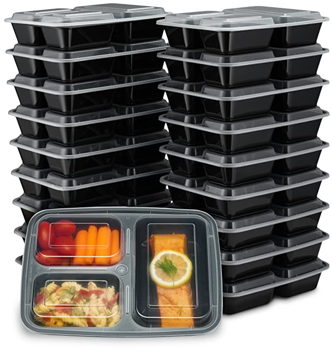 Prepa Pack 32oz Compartment Containers