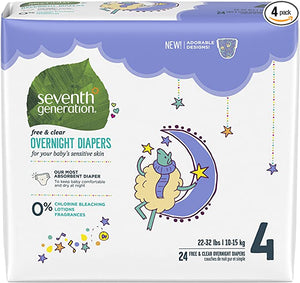 Seventh Generation Overnight 22 32lbs Packaging