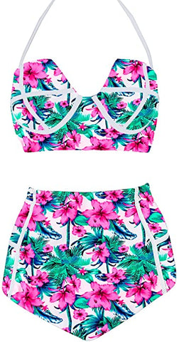 PLAGE Womens Colorful Vintage Swimwear