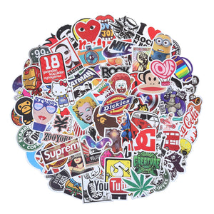Stickers Waterproof Skateboard Graffiti Patches