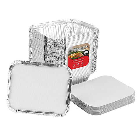 Aluminum Pans Containers Oblong Cardboard