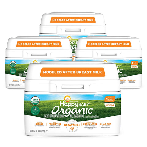 Happy Baby Organic Formula Packaging