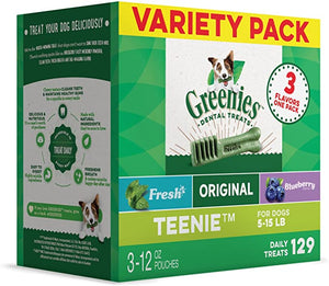 Greenies Teenie 3 Flavor Variety Holiday