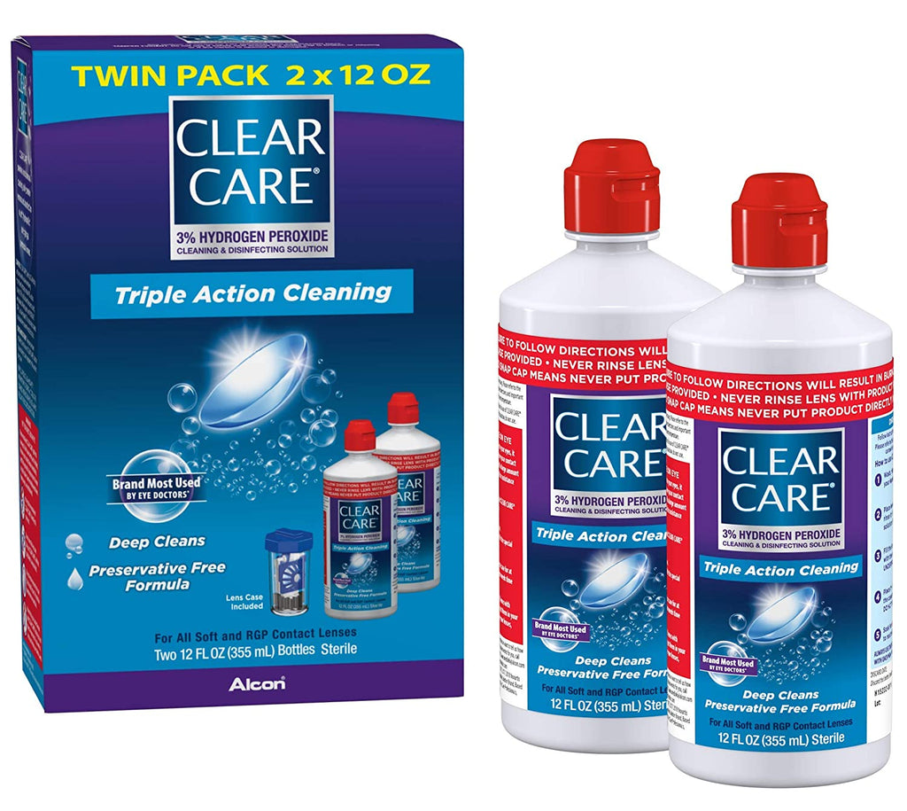Clear Care Cleaning Disinfecting 12 Ounces
