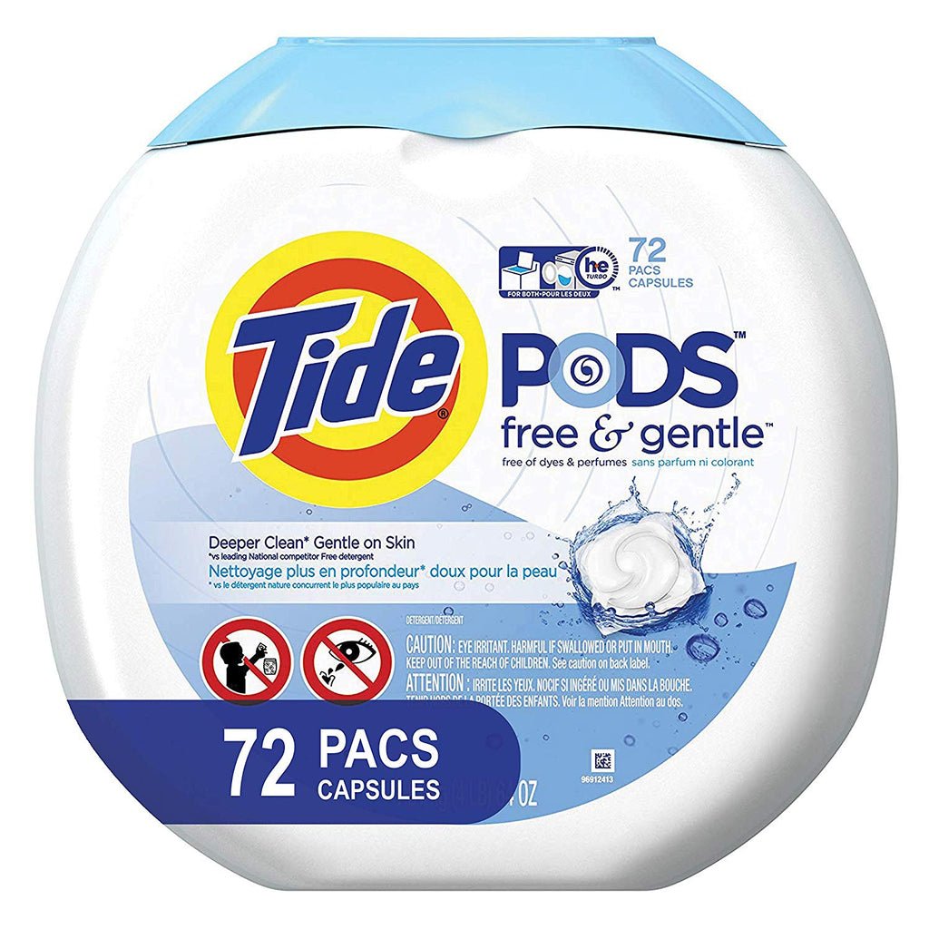Tide Gentle Laundry Detergent Packaging