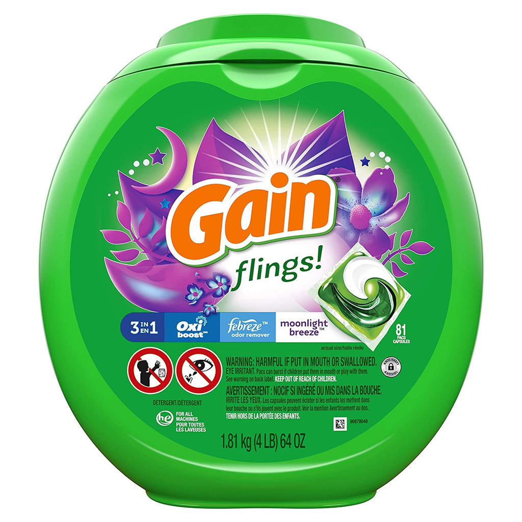 Gain Laundry Detergent Moonlight Packaging